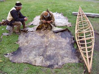 hidestogether Animating a Hide on Frame Greenland Kayak