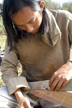 kiliiistitch Animating a Hide on Frame Greenland Kayak