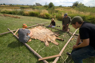 skinstretch Animating a Hide on Frame Greenland Kayak