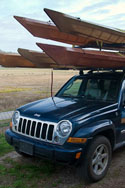 Constructing a 6-kayak Rack