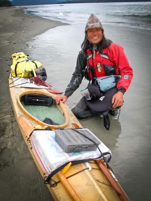 Kiliii's battle-hardened skin-on-frame kayak expedition gear setup